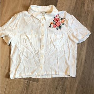 F21 buttoned blouse